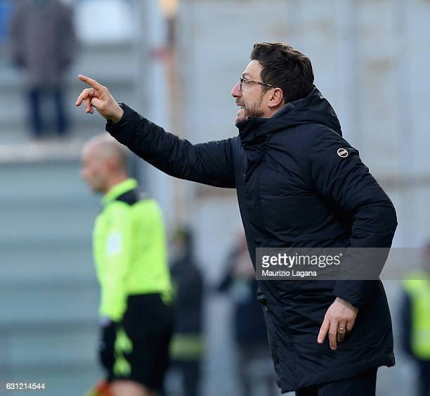 Head coach of Sassuolo Eusebio Di Francesco gestures during the Serie A match between US Sassuolo and FC Torino at Mapei Stadium Citta' del Tricolore...