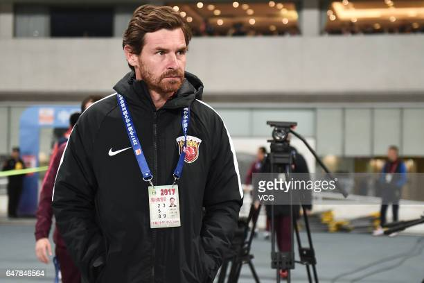 Head coach of Shanghai SIPG Andre VillasBoas looks on during the Chinese Super League between Shanghai SIPG and Changchun Yatai at Shanghai Stadium...