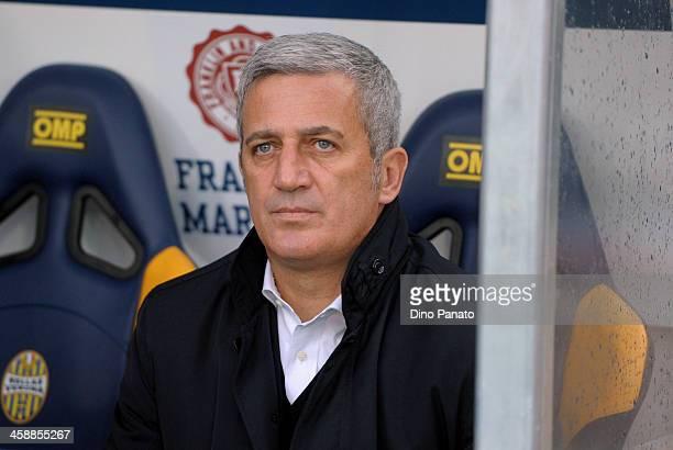 Head coach of SS Lazio Vladimir Petkovic looks on during the Serie A match between Hellas Verona FC and SS Lazio at Stadio Marc'Antonio Bentegodi on...