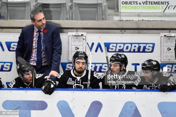Head coach of the BlainvilleBoisbriand Armada Joel Bouchard looks on against the Gatineau Olympiques during the QMJHL game at Centre d'Excellence...