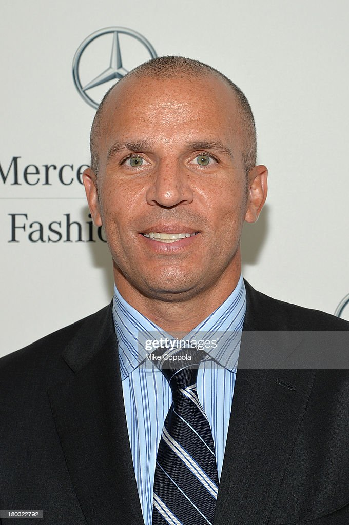 Head coach of the Brooklyn Nets <a gi-track='captionPersonalityLinkClicked' href=/galleries/search?phrase=Jason+Kidd&family=editorial&specificpeople=201560 ng-click='$event.stopPropagation()'>Jason Kidd</a> attends the Mercedes-Benz Star Lounge during Mercedes-Benz Fashion Week Spring 2014 on September 11, 2013 in New York City.