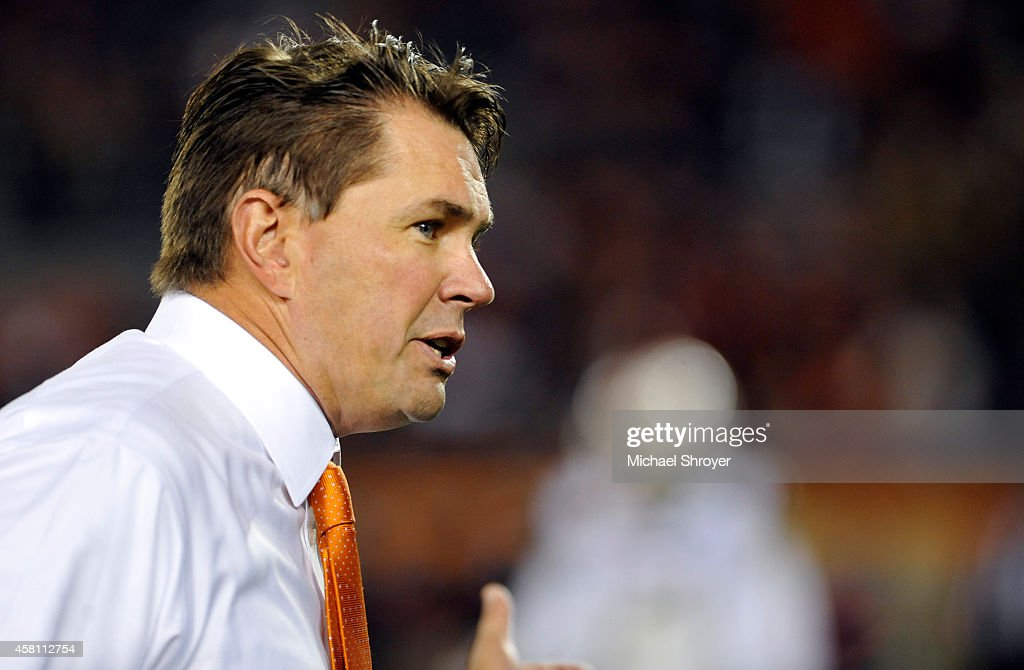 Head coach of the Miami Hurricanes <a gi-track='captionPersonalityLinkClicked' href=/galleries/search?phrase=Al+Golden&family=editorial&specificpeople=6315572 ng-click='$event.stopPropagation()'>Al Golden</a> reacts on the sideline in the second half against the Virginia Tech Hokies at Lane Stadium on October 23, 2014 in Blacksburg, Virginia. Miami defeated Virginia Tech 30-6.