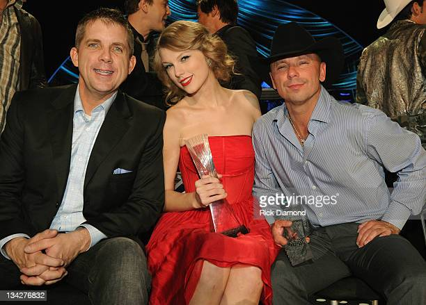 Head Coach of the New Orleans Saints Sean Payton Honoree Taylor Swift and Honoree Kenny Chesney attend the 2011 CMT Artists of the year at the...