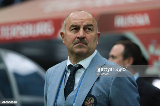 Head coach of the Russian national football team Stanislav Cherchesov during the 2017 FIFA Confederations Cup match first stage Group A between...