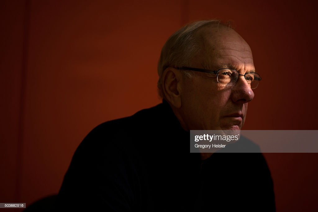 Head coach of the Syracuse men's basketball team, <a gi-track='captionPersonalityLinkClicked' href=/galleries/search?phrase=Jim+Boeheim&family=editorial&specificpeople=210990 ng-click='$event.stopPropagation()'>Jim Boeheim</a> is photographed for Sports Illustrated on December 12, 2015 in DeWitt, New York. Boeheim is serving a 9-game suspension, a penalty for violating NCAA rules.