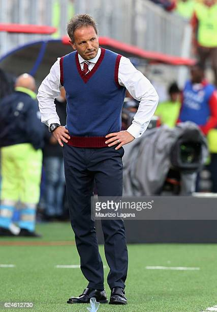 Head coach of Torino Sinisa Mihajlovic during the Serie A match between FC Crotone and FC Torino at Stadio Comunale Ezio Scida on November 20 2016 in...