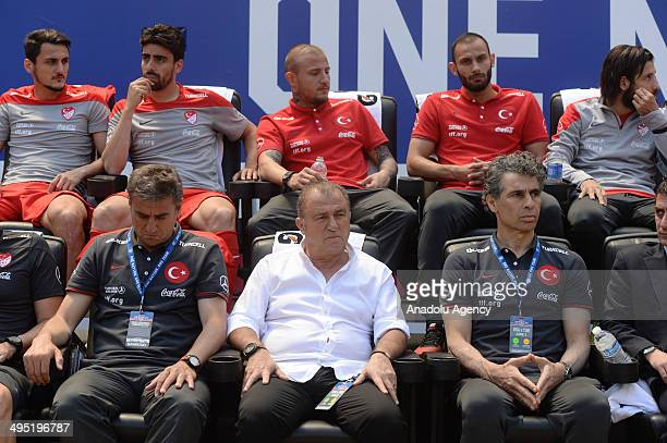 Head coach of Turkish National Football Team Fatih Terim is seen during the friendly match between United States and Turkish Football team at Red...