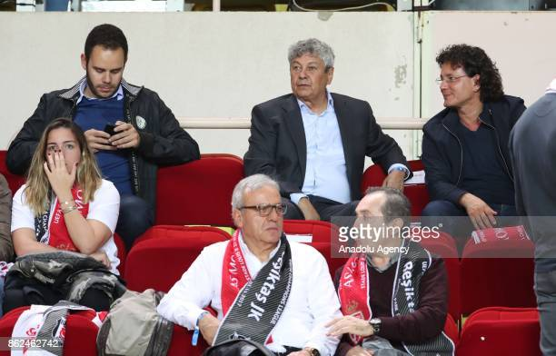 Head coach of Turkish National Football Team Mircea Lucescu attends the UEFA Champions League Group G match between AS Monaco and Besiktas at Stade...