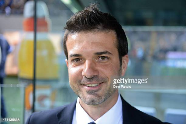 Head coach of Udinese Andrea Stramaccioni looks on during the Serie A match between Udinese Calcio and FC Internazionale Milano at Stadio Friuli on...