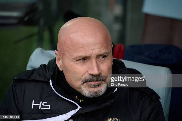 Head coach of Udinese Stefano Colantuono looks on during the Serie A match between Udinese Calcio and Bologna FC at Stadio Friuli on February 14 2016...