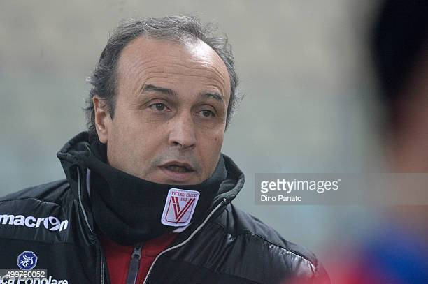 Head coach of Vicenza Pasquale Marino looks on during the TIM Cup match between Carpi FC and AC Vicenza Calcio at Alberto Braglia Stadium on December...