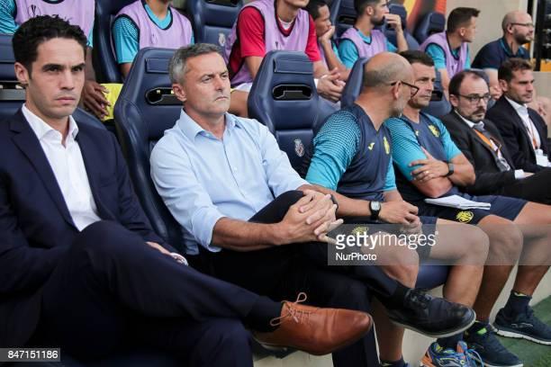 Head coach of Villarreal CF Fran Escriba during the UEFA Europa League Group A football match between Villarreal CF vs FC Astana at La Ceramica...