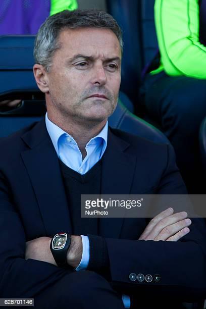 Head coach of Villarreal CF Fran Escriba during UEFA Europa League soccer match between Villarreal CF vs Steaua Bucharest at El Madrigal Stadium in...
