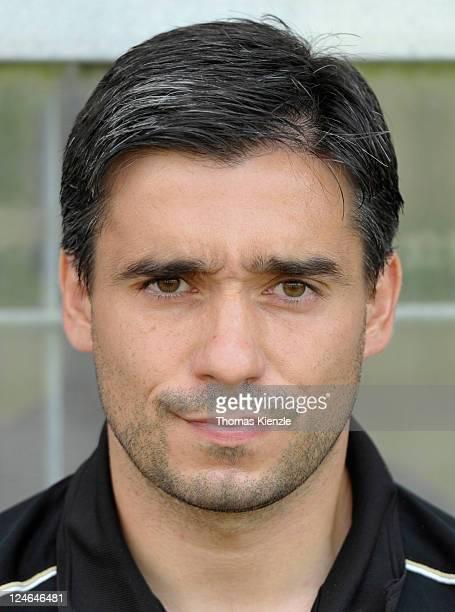 Head coach Oscar Corrochano of Frankfurt looks on prior to the Regionalliga South match between Stuttgarter Kickers and Eintracht Frankfurt II at...