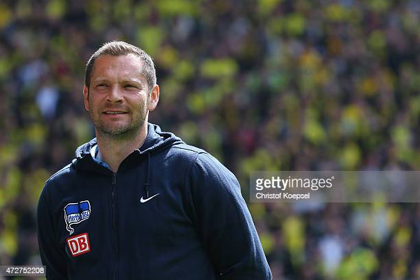 Head coach Pal Dardai of Berlin looks thoughtful prior to the Bundesliga match between Borussia Dortmund and Hertha BSC Bwerlin at Signal Iduna Park...