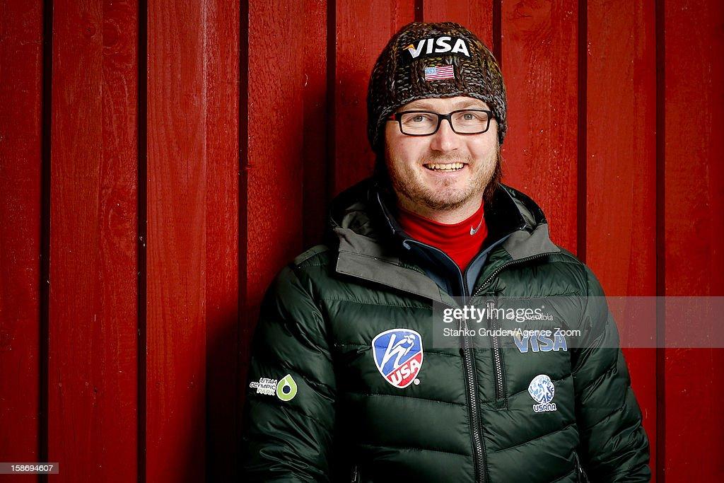 Head coach Paolo Bernardi of the USA Women's Ski Jumping Team poses on December 15, 2012 in Ramsau, Austria.