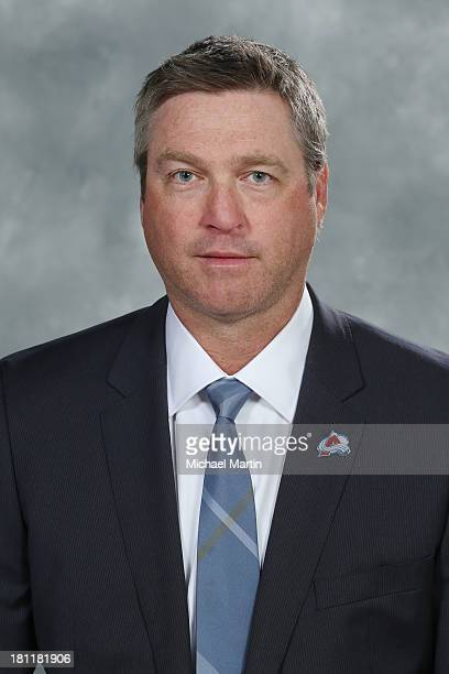 Head Coach Patrick Roy of the Colorado Avalanche poses for his official headshot for the 20132014 NHL season on September 11 2013 at the Pepsi Center...