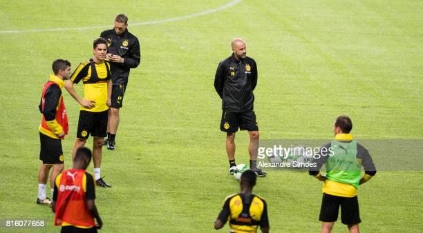 Head coach Peter Bosz of Borussia Dortmund during a training session during the Borussia Dortmund Asian Summer Tour on July 17 2017 in Guangzhou China
