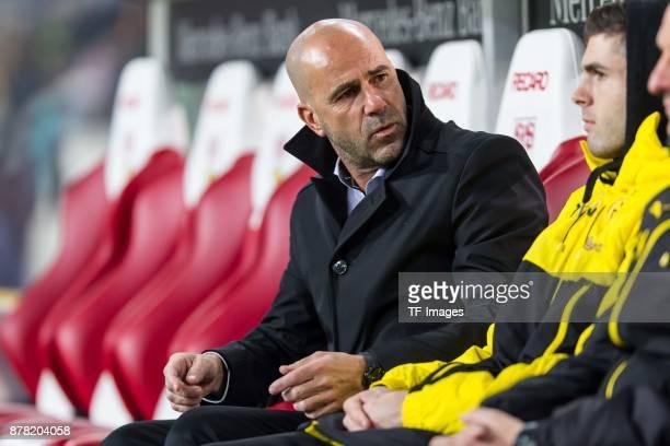 Head coach Peter Bosz of Dortmund gestures prior the Bundesliga match between VfB Stuttgart and Borussia Dortmund at MercedesBenz Arena on November...