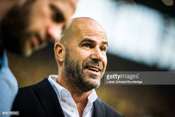 Head Coach Peter Bosz of Dortmund is seen prior to the DFL Supercup 2017 match between Borussia Dortmund and Bayern Muenchen at Signal Iduna Park on...