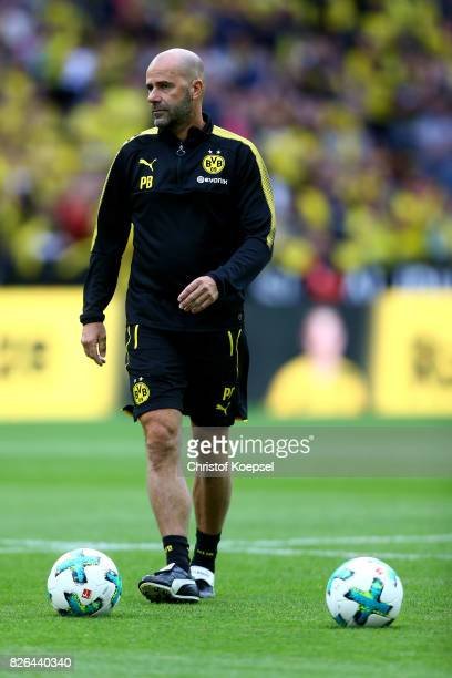 Head coach Peter Bosz of Dortmund looks on during the Borussia Dortmund Season Opening 2017/18 at Signal Iduna Park on August 4 2017 in Dortmund...
