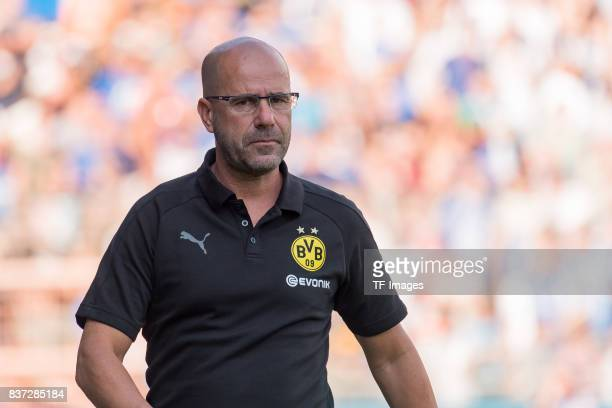 Head coach Peter Bosz of Dortmund looks on during the preseason friendly match between VfL Bochum and Borussia Dortmund at Vonovia Ruhrstadion on...