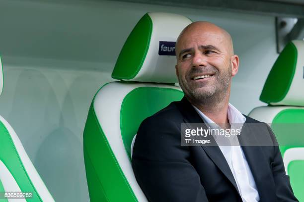 Head coach Peter Bosz of Dortmund looks on during to the Bundesliga match between VfL Wolfsburg and Borussia Dortmund at Volkswagen Arena on August...