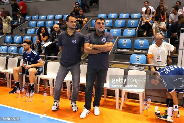 Head coach Philippe Gardent and Assistant coach Danijel Andjelkovic of Toulouse during Lidl Star Ligue match between Fenix Toulouse and Pays D'aix...