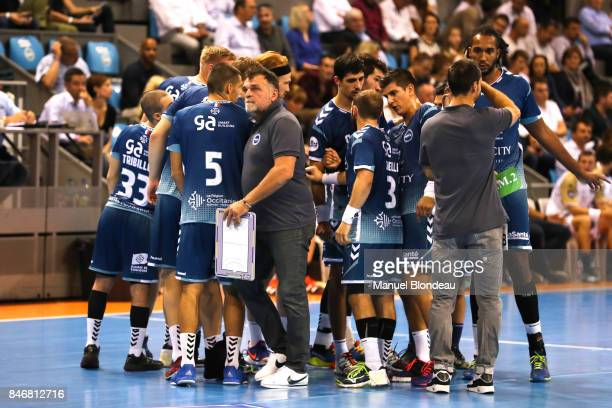 Head coach Philippe Gardent of Toulouse during Lidl Star Ligue match between Fenix Toulouse and Pays D'aix Universite Club on September 13 2017 in...