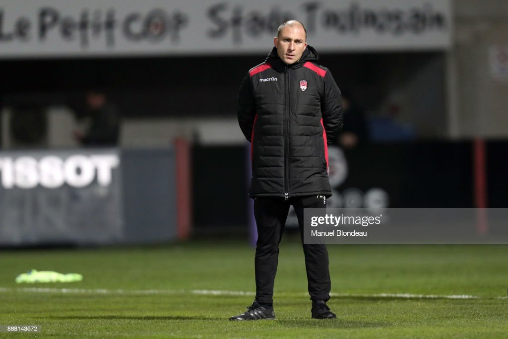 Head coach Pierre Mignoni of Lyon during the European Challenge Cup match between Toulouse and Lyon on December 7, 2017 in Toulouse, France.