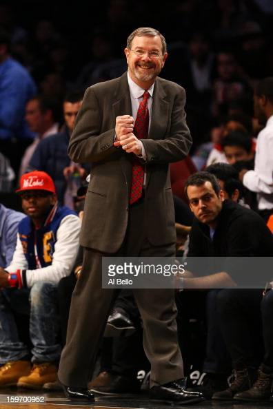 Head coach PJ Carlesimo of the Brooklyn Nets reacts during the first quarter against the Atlanta Hawks during the game at Barclays Center on January...