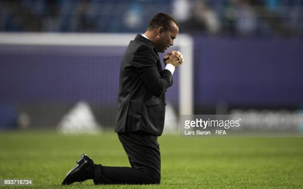 Head coach Rafael Dudamel of Venezuela celebrates after winning the FIFA U20 World Cup Korea Republic 2017 Semi Final match between Uruguay and...