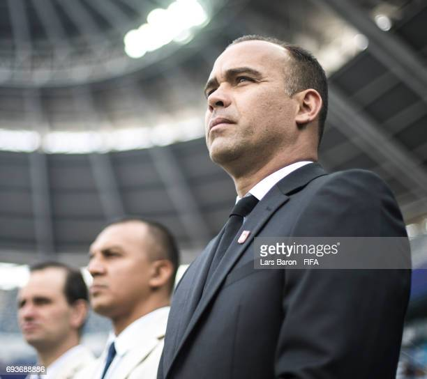 Head coach Rafael Dudamel of Venezuela looks on during the FIFA U20 World Cup Korea Republic 2017 Semi Final match between Uruguay and Venezuela at...