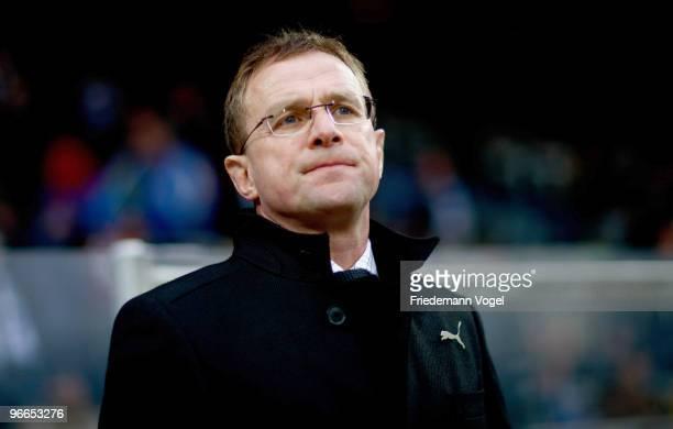 Head coach Ralf Rangnick of Hoffenheim looks on during the Bundesliga match between VfL Bochum and 1899 Hoffenheim at Rewirpower Stadium on February...