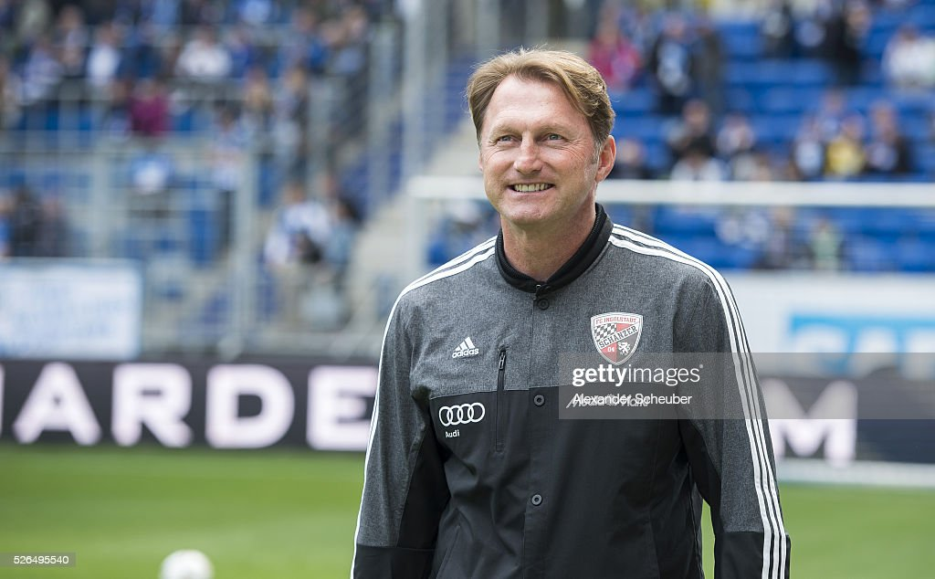 Head coach Ralph Hasenhuettl of FC Ingolstadt looks prior the first Bundesliga match between 1899 Hoffenheim and FC Ingolstadt at Wirsol...