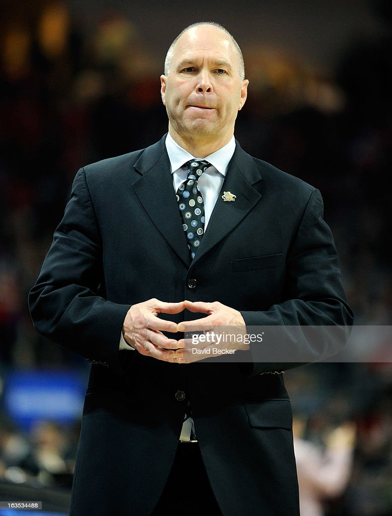 Head coach Randy Bennett of the Saint Mary's Gaels watches the action during the championship game of the West Coast Conference Basketball tournament against the Gonzaga Bulldogs at the Orleans Arena March 11, 2013 in Las Vegas, Nevada. Gonzaga won 65-51.