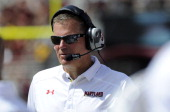 Head coach Randy Edsall of the Maryland Terrapins watches the game against the Florida State Seminoles at Doak Campbell Stadium on October 5 2013 in...