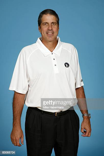 Head coach Randy Wittman of the Minnesota Timberwolves poses for a portrait during NBA Media Day on September 29 2008 at the Target Center in...