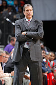 Head coach Randy Wittman of the Washington Wizards coaches against the Charlotte Hornets on March 9 2015 at Time Warner Cable Arena in Charlotte...