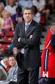 Head coach Randy Wittman of the Washington Wizards coahces against the Sacramento Kings on March 22 2015 at Sleep Train Arena in Sacramento...