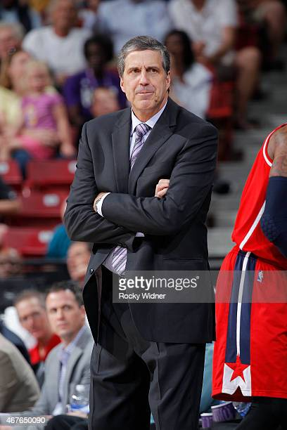 Head coach Randy Wittman of the Washington Wizards coahces against the Sacramento Kings on March 22 2015 at Sleep Train Arena in Sacramento...