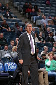Head coach Randy Wittman of the Washington Wizards looks on against the Milwaukee Bucks during a preseason game on October 17 2015 at the BMO Harris...
