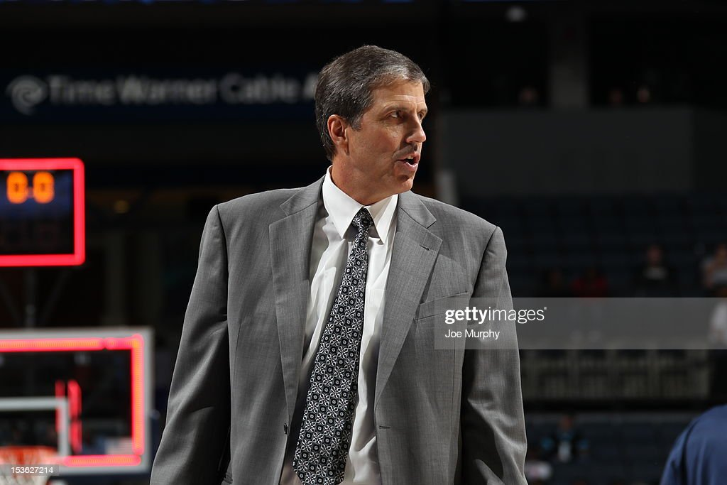 Head Coach <a gi-track='captionPersonalityLinkClicked' href=/galleries/search?phrase=Randy+Wittman&family=editorial&specificpeople=679109 ng-click='$event.stopPropagation()'>Randy Wittman</a> of the Washington Wizards looks on during the game between the Charlotte Bobcats and the Washington Wizards at the Time Warner Cable Arena on October 7, 2012 in Charlotte, North Carolina.