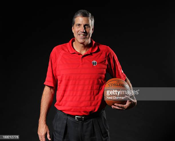 Head coach Randy Wittman of the Washington Wizards poses for a portrait during 2012 NBA Media Day at the Verizon Center on October 1 2012 in...