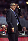 Head coach Randy Wittman of the Washington Wizards watches as his team takes on the Chicago Bulls at the United Center on January 11 2016 in Chicago...