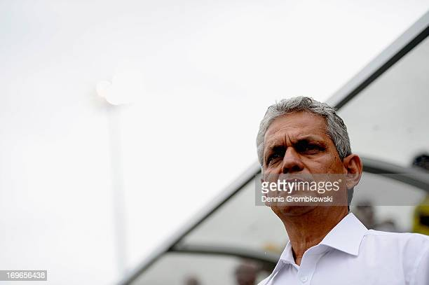 Head coach Reinaldo Rueda of Ecuador looks on prior to the International Friendly match between Ecuador and Germany at FAU stadium on May 29 2013 in...