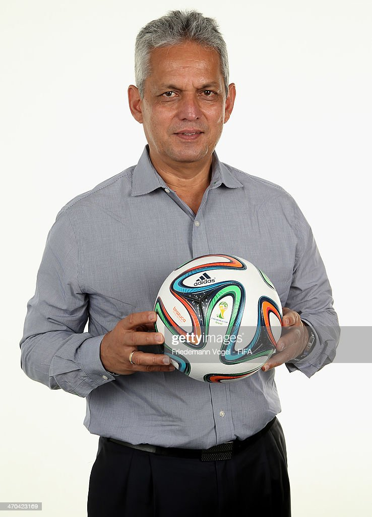 Head coach <a gi-track='captionPersonalityLinkClicked' href=/galleries/search?phrase=Reinaldo+Rueda&family=editorial&specificpeople=2210216 ng-click='$event.stopPropagation()'>Reinaldo Rueda</a> Rivera of Ecuador poses during the FIFA Team Workshop for the 2014 FIFA World Cup Brazil on February 19, 2014 in Florianopolis, Brazil.