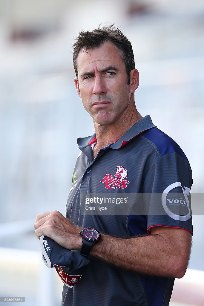 Head coach Richard Graham looks on during a Queensland Reds Super Rugby training session at Ballymore Stadium on February 8, 2016 in Brisbane, Australia.