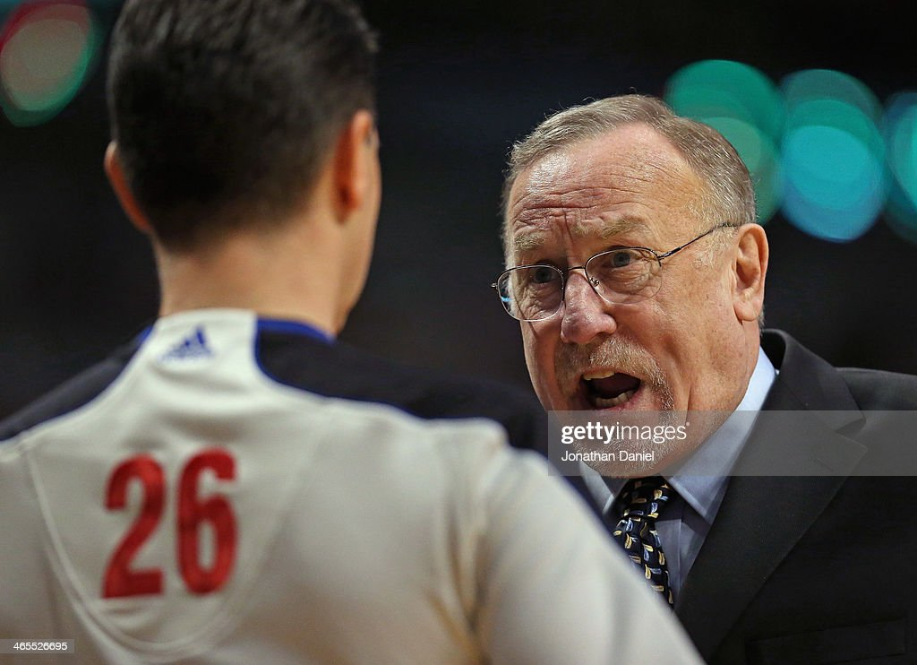 Head coach Rick Adelman of the Minnesota Timberwolves has words with referee Pat Fraher #26 during a game against the Chicago Bulls at the United Center on January 27, 2014 in Chicago, Illinois. The Timberwolves defeated the Bulls 95-86.