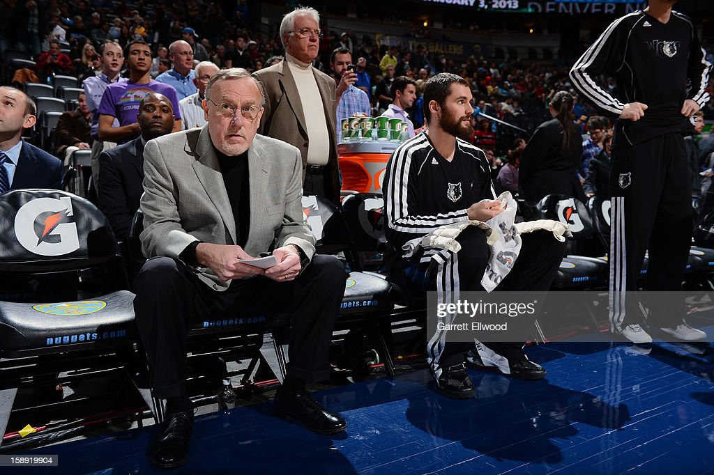 Head Coach Rick Adelman of the Minnesota Timberwolves sits down prior to the Denver Nuggets on January 3, 2013 at the Pepsi Center in Denver, Colorado.